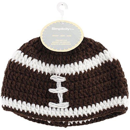 Boye Football Crocheted Hats for Babies