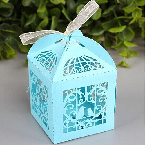 Zorpia 50pcs Laser Cut Birdcage Wedding Favor Box candy box