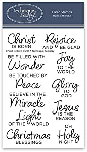 Religious Christmas Stamps 2021 Amazon Com Christ Is Born Clear Stamps Religious Christmas Stamps Stamps Christian Photopolymer Stamps Card Making Supplies Arts Crafts Sewing
