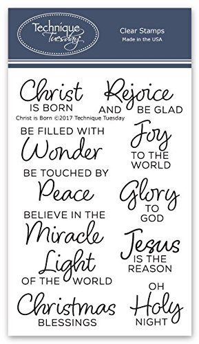 Christmas Sentiments For Cards.Amazon Com Christ Is Born Clear Stamps Religious