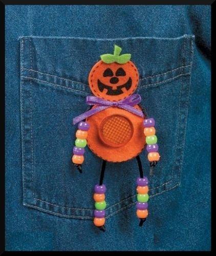 1 Pc of Halloween Reflector Pumpkin Pin Bead Craft Kit -