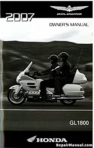 31mca660 2007 honda gl1800 gold wing motorcycle owners manual rh amazon com Honda Goldwing 1800 CB Radio 2007 honda goldwing gl1800 service manual pdf