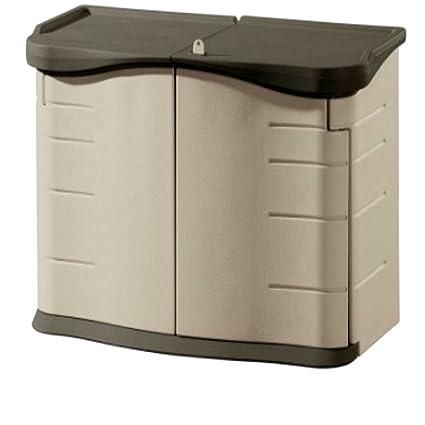 XL Deck Storage Boxes Outdoor Plastic Split Lid Storage Cabinet  Contemporary Container Deck Box U0026 E