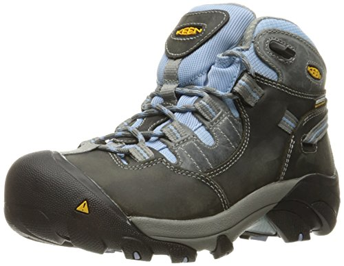 KEEN Utility Women's Detroit Mid Soft Toe Industrial and Construction Shoe, Magnet/Blue Bell, 8 M US by KEEN Utility