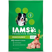 IAMS PROACTIVE HEALTH Minichunks Premium Adult Dry Dog Food (1) 30 Pound Bag; Veterinarians Recommend IAMS; Chicken Is #1 Ingredient
