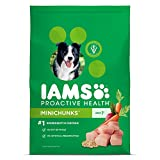 IAMS PROACTIVE HEALTH Minichunks Premium Adult Dry Dog Food (1) 15 Pound Bag; Veterinarians Recommend IAMS; Chicken Is #1 Ingredient
