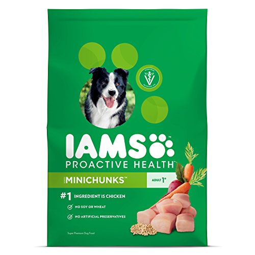 Iams Food Coupons - Iams ProActive Health Minichunks Dry Dog Food for All Dogs – Chicken, 7 Pound Bag