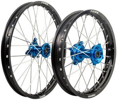 Impact Complete Front//Rear Wheel Kit 1.40 x 17//1.60 x 14 Black Rim//Silver Spoke//Blue Hub for Husqvarna TC 85 2014-2018