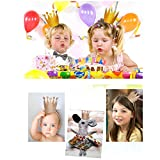 Boieo Silver Party Crowns for Prince Princess