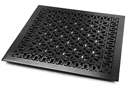 Reggio Registers 2626-ANH Scroll Series 24'' x 24'' Floor Grille without Mounting, Oil Rubbed Bronze Aluminum