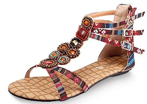 Lazutom - Sandalias de vestir de Material Sintético para mujer Red
