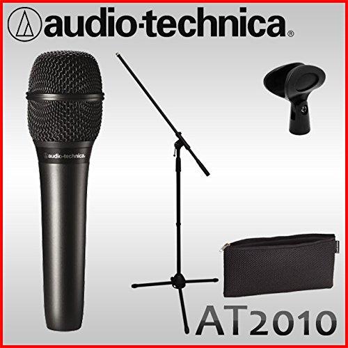 オーディオテクニカ コンデンサーマイク AT-2010(ハンド型) audio-technica マイクスタンド付きセット B075HX135F