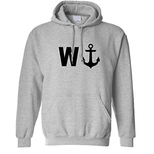Divertente Slogan Design W con immagine di un ancoraggio del regalo degli uomini Fratello Unisex Con Cappuccio