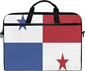 Ainans Panama Flag 15 inch Laptop Case Shoulder Bag Crossbody Briefcase Messenger Sleeve for Women Men Girls Boys