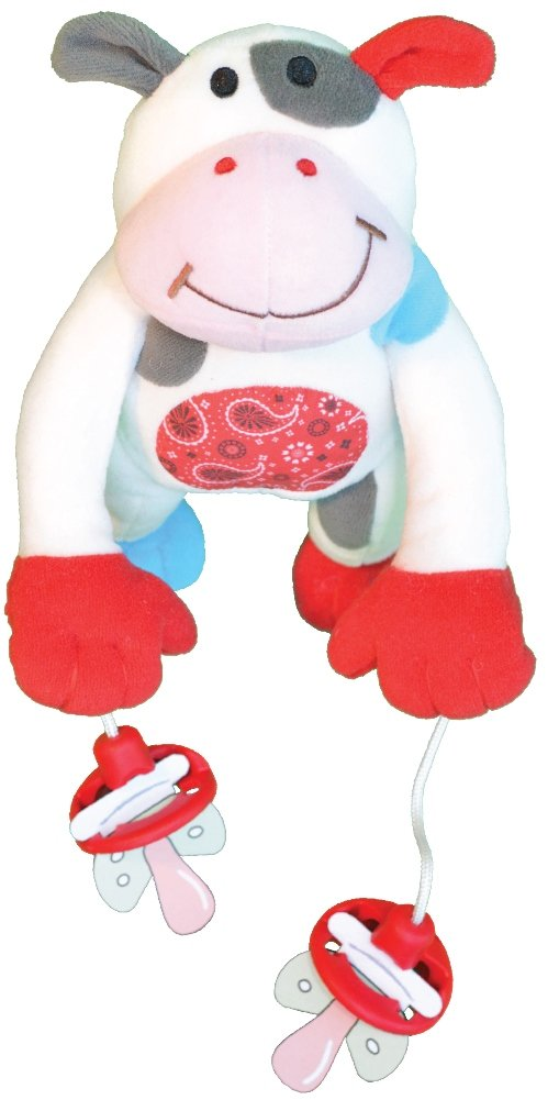 "The Original PullyPalz Pacifier Holder ""As Seen on Shark Tank!"" MooMoo the Cow"