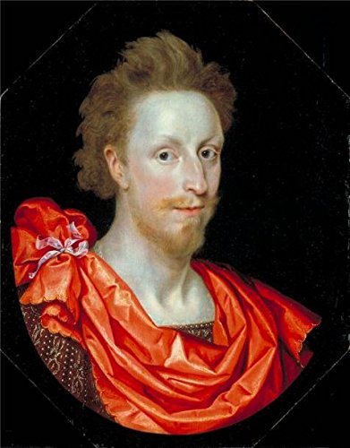 'Marcus Gheeraerts II - Portrait Of A Man In Classical Dress, Possibly Philip Herbert, 4th Earl Of Pembroke,1610' Oil Painting, 30x38 Inch / 76x97 Cm ,printed On Polyster Canvas ,this - Lim Glasses Philip