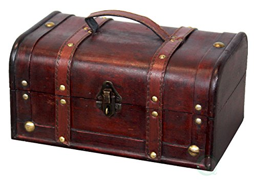 Small Storage Chest (Vintiquewise(TM) Decorative Treasure Box - Wooden Trunk Chest)
