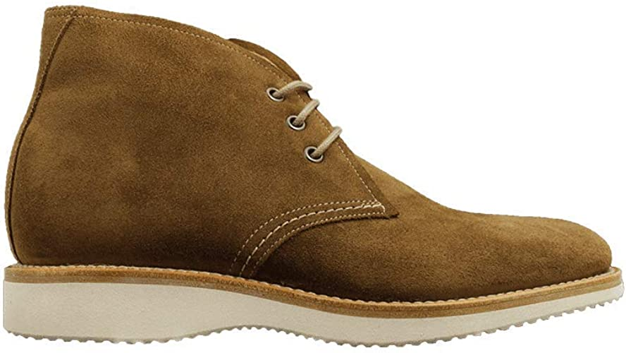 Loake Python Tan Suede Leather Mens