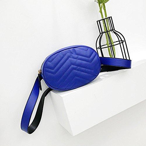 nero Colore Donna Moda Puro Messenger Innerternet Donna Blu Tracolla Borsetta Borsa Bag Pelle A In x4wRpO