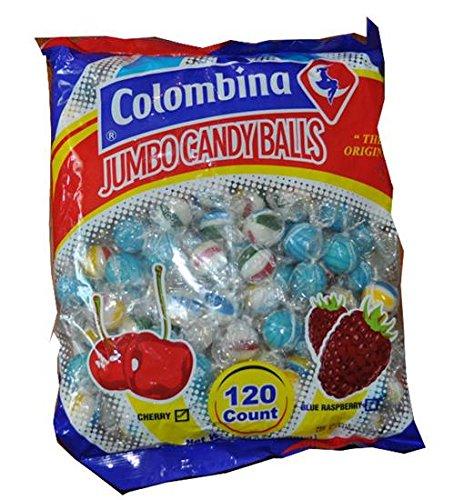 - Jumbo Candy Balls Cherry and Blue Raspberry