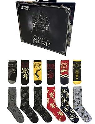 Men's Game Of Thrones 12 Days Of Socks Gift Set, 10-13