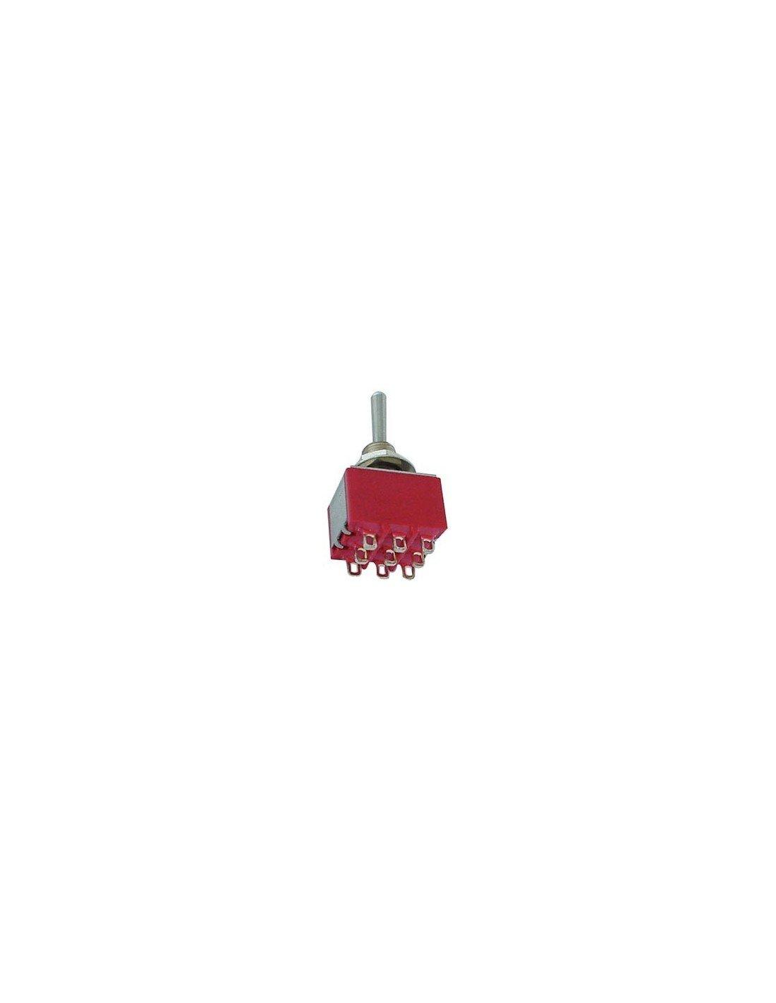 Perel 139735Interrupteur à bascule, vertical 3PDT, un de en un