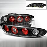 Spec-D Tuning LT-MX392JM-APC Mazda Mx3 Mx-3 Black Altezza Tail Lights Lamp