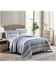 NauticaHome   Galewood Collection   Bedding Set-Premium Cotton Ultra Soft Quilt Coverlet, Comfortable All Season Stylish Bedspread, King, Blue