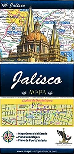Jalisco Mexico State And Major Cities Map Spanish Edition