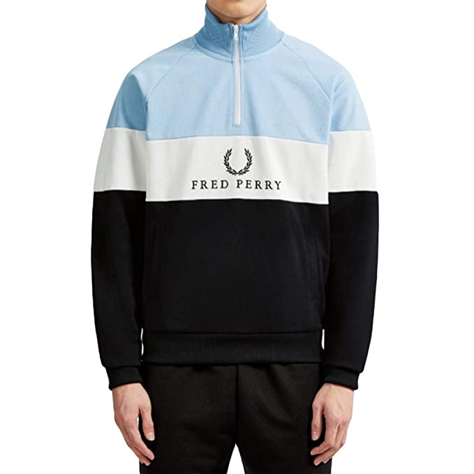 Fred Perry Embroidered Panel Track Jacket Glacier, Chaqueta ...