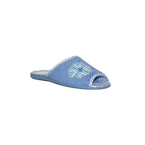 ANATOMICAS Sara - Sandalias DE CASA Rizo J22539 Zapatillas De Andar por Casa Mujer Azul Celeste Rosa Cómodas Baratas - Azul, 35: Amazon.es: Zapatos y ...