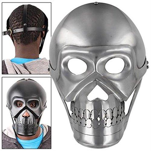 Platinum Fantasy Polished Steel Skull Armor Face Mask (Tin Man Nose)