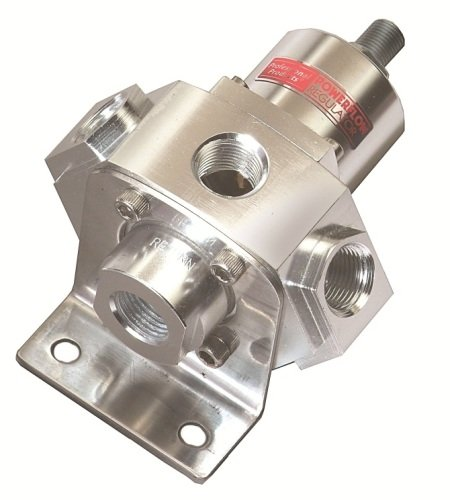 Professional Products 10659 Aluminum 5-Port Carburetor Fuel Regulator with Return Line