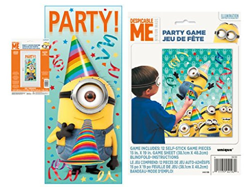 Despicable Me 27 x 60 Party Door Poster and Party Game -