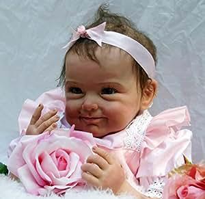 22 'Bebé Recién Nacido Muñeca Hecha a Mano Suave Del Silicón Del Reborn Baby Doll Muñeca Recién Nacida Los 55cm