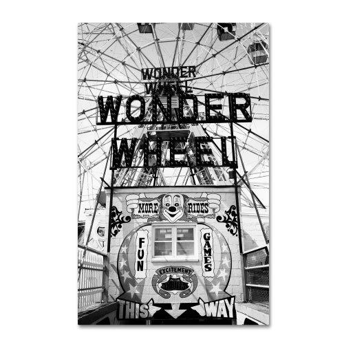 Coney Island Wonder Wheel This Way by Yale Gurney, 30 by 47-Inch Canvas Wall Art (Wonder Wheel Coney Island)