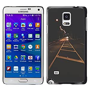 iKiki Tech / Estuche rígido - City Lights Vignette Freedom Drive - Samsung Galaxy Note 4 SM-N910F SM-N910K SM-N910C SM-N910W8 SM-N910U SM-N910