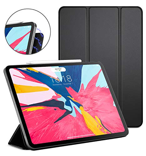 """Price comparison product image DTTO iPad Pro 11"""" Case 2018, [Apple Pencil Pair & Charge Supported] Magnetic Attached Smart Cover with All 102 Magnets Precisely Aligned, Auto Sleep/Wake for iPad Pro 11 Inch, Black"""