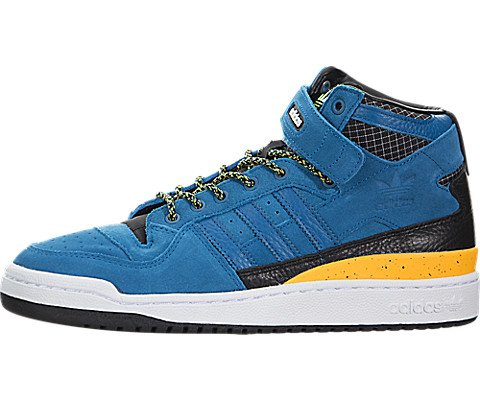 adidas Men's Forum MID Refined Blue/Black F37835 (Size: 9.5)