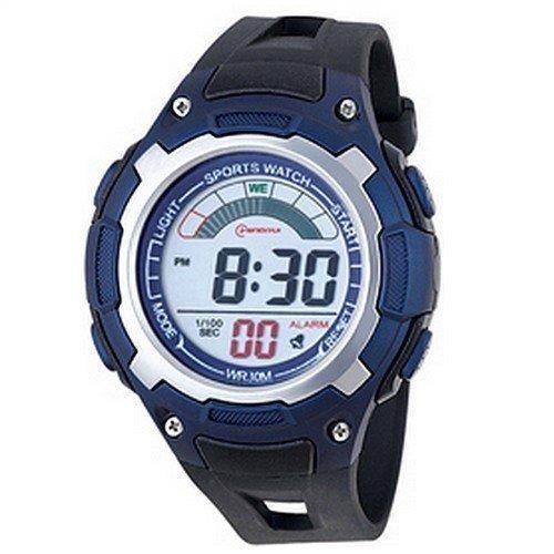 Montre Concept - Relojes digitales hombre Mingrui - Correa Plástico Azul - Dial Redondo Fondo Negro: Amazon.es: Relojes