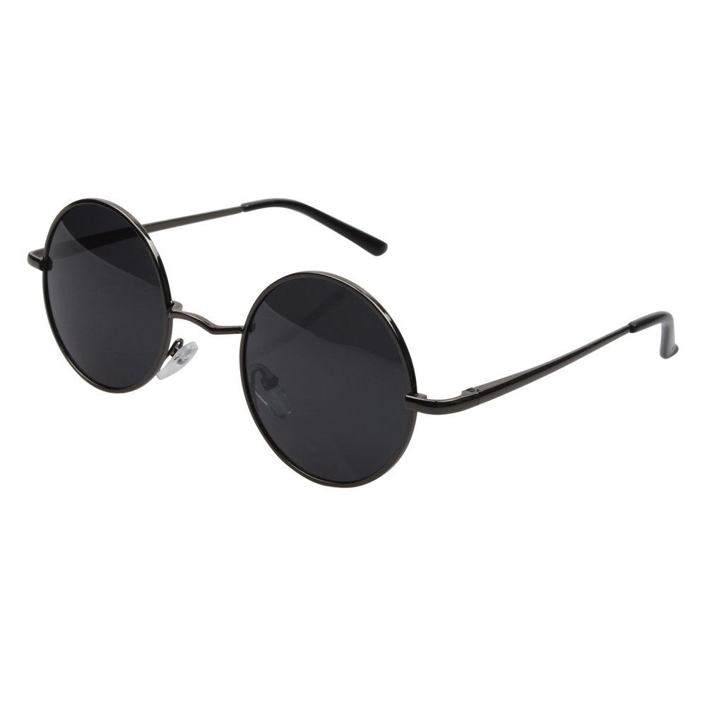 Amazon.com: Aoron Vintage Round Sunglasses with Polarized Lenses for ...