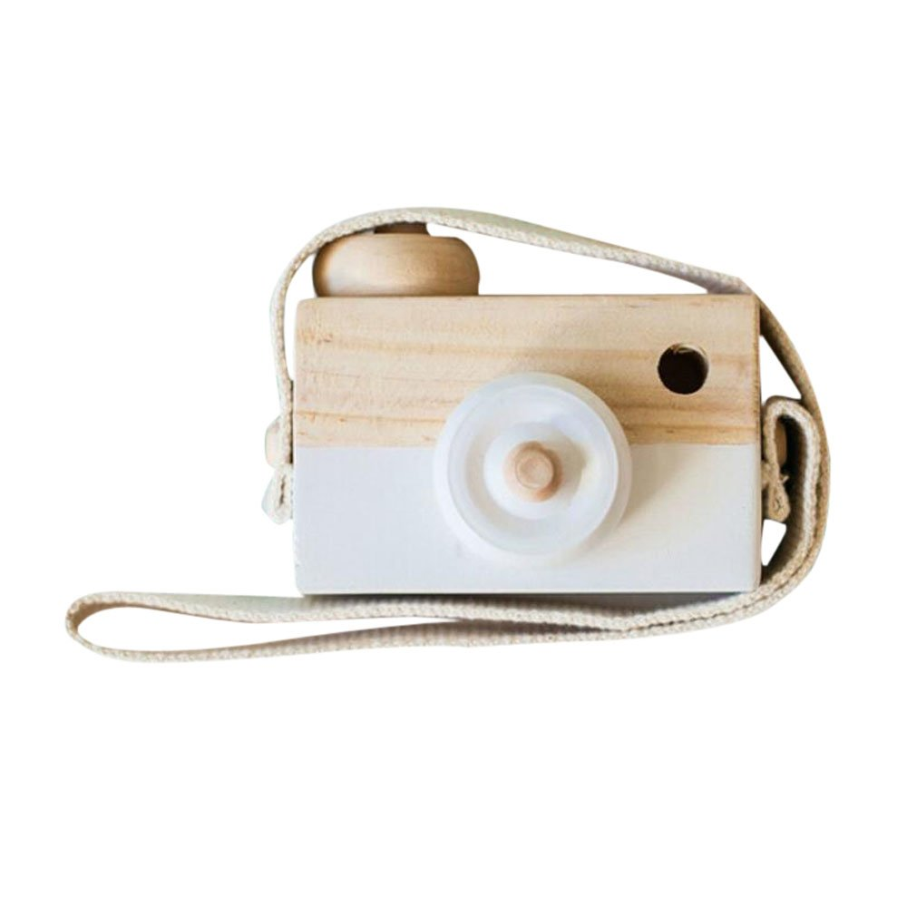 Allywit Baby Kids Cute Wood Camera Toys Children Fashion Clothing Accessory Safe And Natural Toys Birthday Christmas Gift