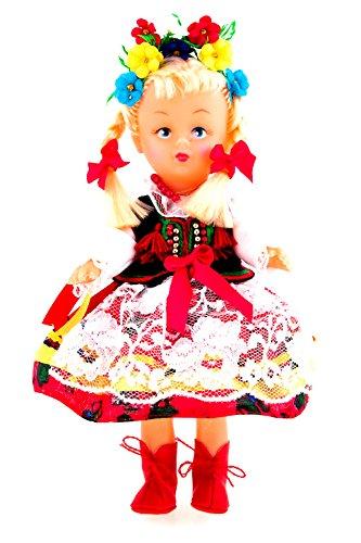 Poland Costume For Girls (Polish Folk Doll from Krakow Region, Krakowianka)