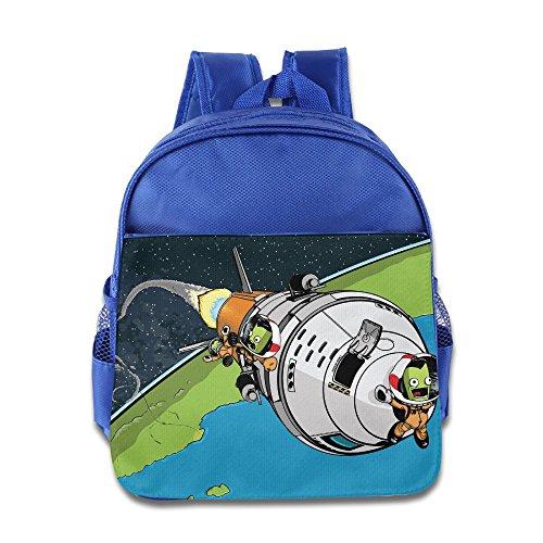 (XJBD Custom Cute Kerbal Space Program Kids School Bag Backpack For 1-6 Years Old RoyalBlue)