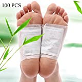 Scenstar 100 pcs Foot Detox Pads Weight Loss Patch Foot Pads Body Cleanse Detoxify Toxins Adhesive Keeping Fit Stress Relief