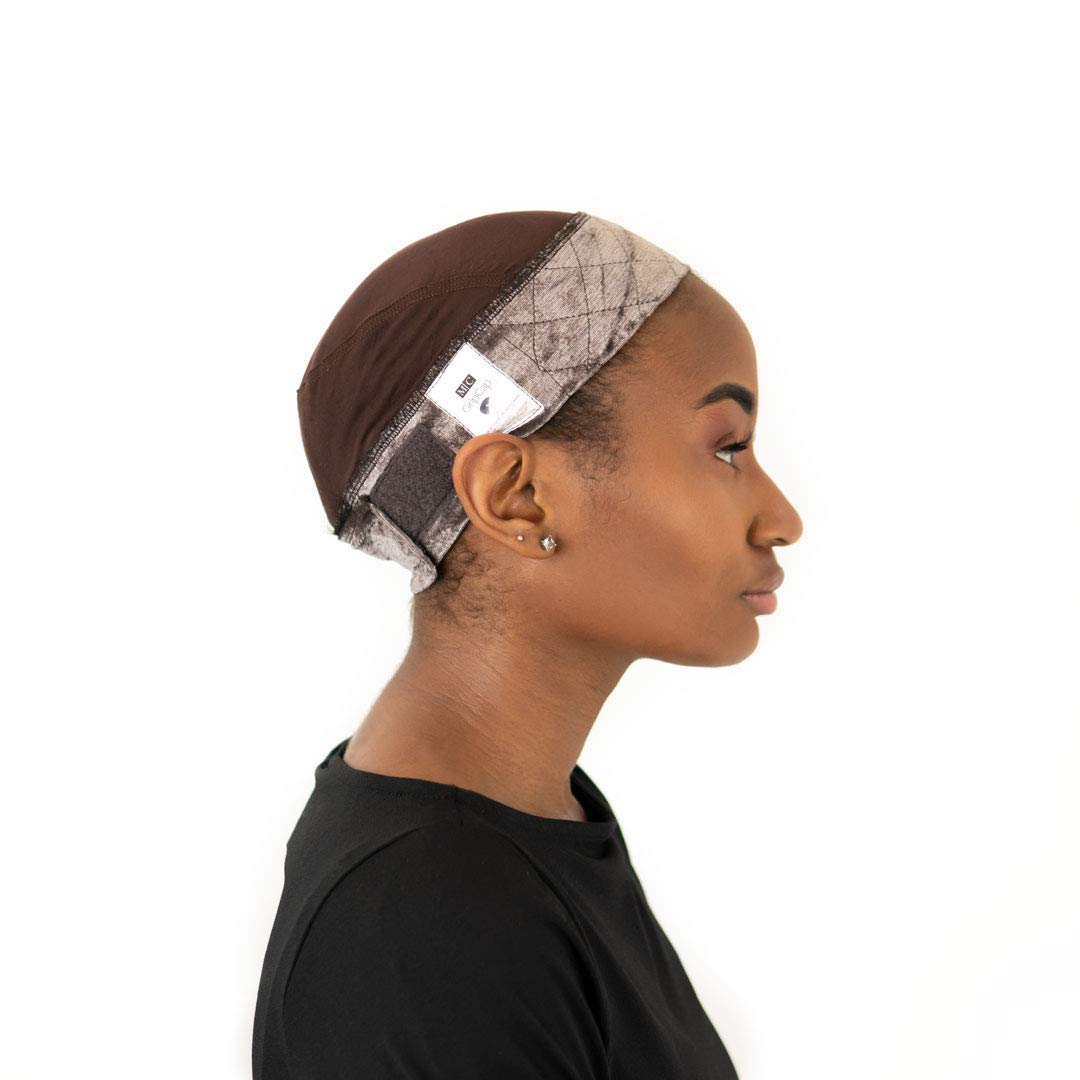 Milano Collection GripCap All in One WiGrip Comfort Band & Wig Cap in Brown by MILANO COLLECTION