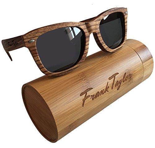 Wooden Sunglasses by Frank Taylor - Zebrawood - Handmade - 1 Year Warranty - Polarized 100% - Repair Sunglasses Frame
