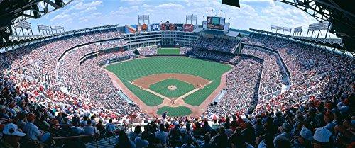 Baseball stadium Texas Rangers v Baltimore Orioles Dallas Texas Poster Print (36 x 12)