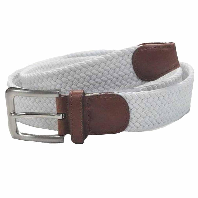 Luxury Divas Braided Stretch Belt With Gunmetal Buckle