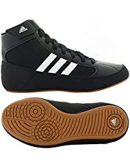Adidas HVC Men's Wrestling Shoes Black/Running White/Gum
